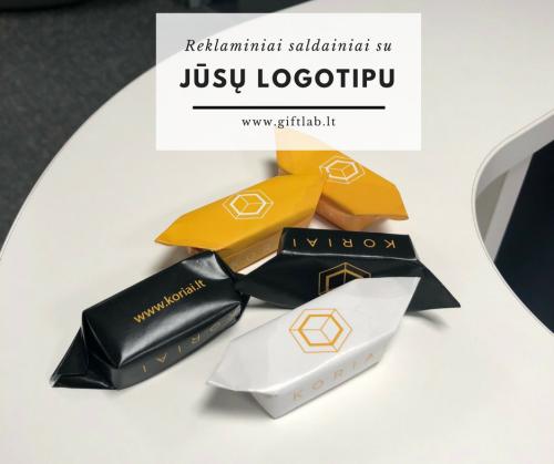 Reklaminiai saldainiai su individualiu dizainu/ logotipu
